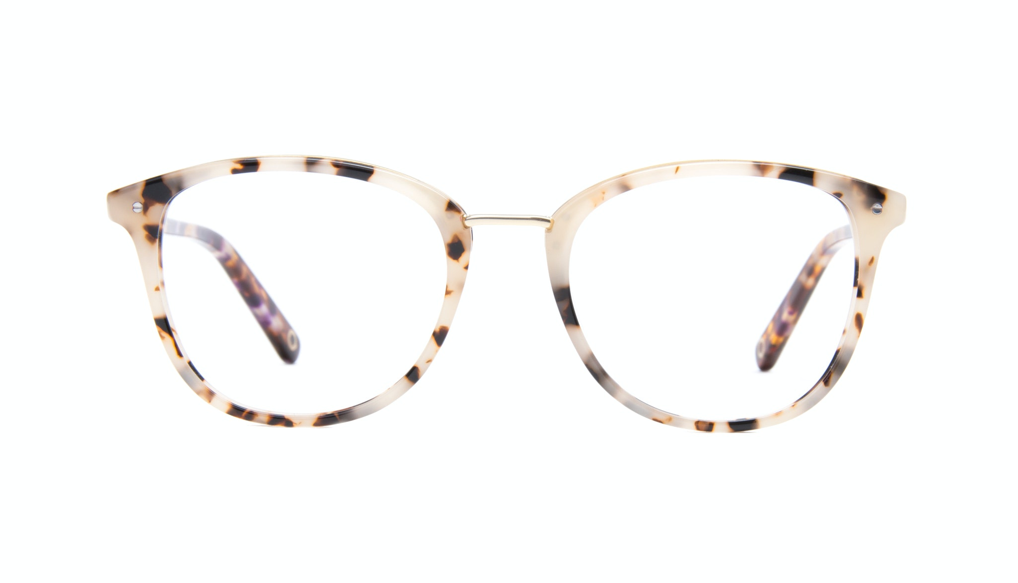 Affordable Fashion Glasses Square Round Eyeglasses Women Ella Gold Tortie Front