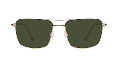 Affordable Fashion Glasses Aviator Sunglasses Men Emerge Gold Front