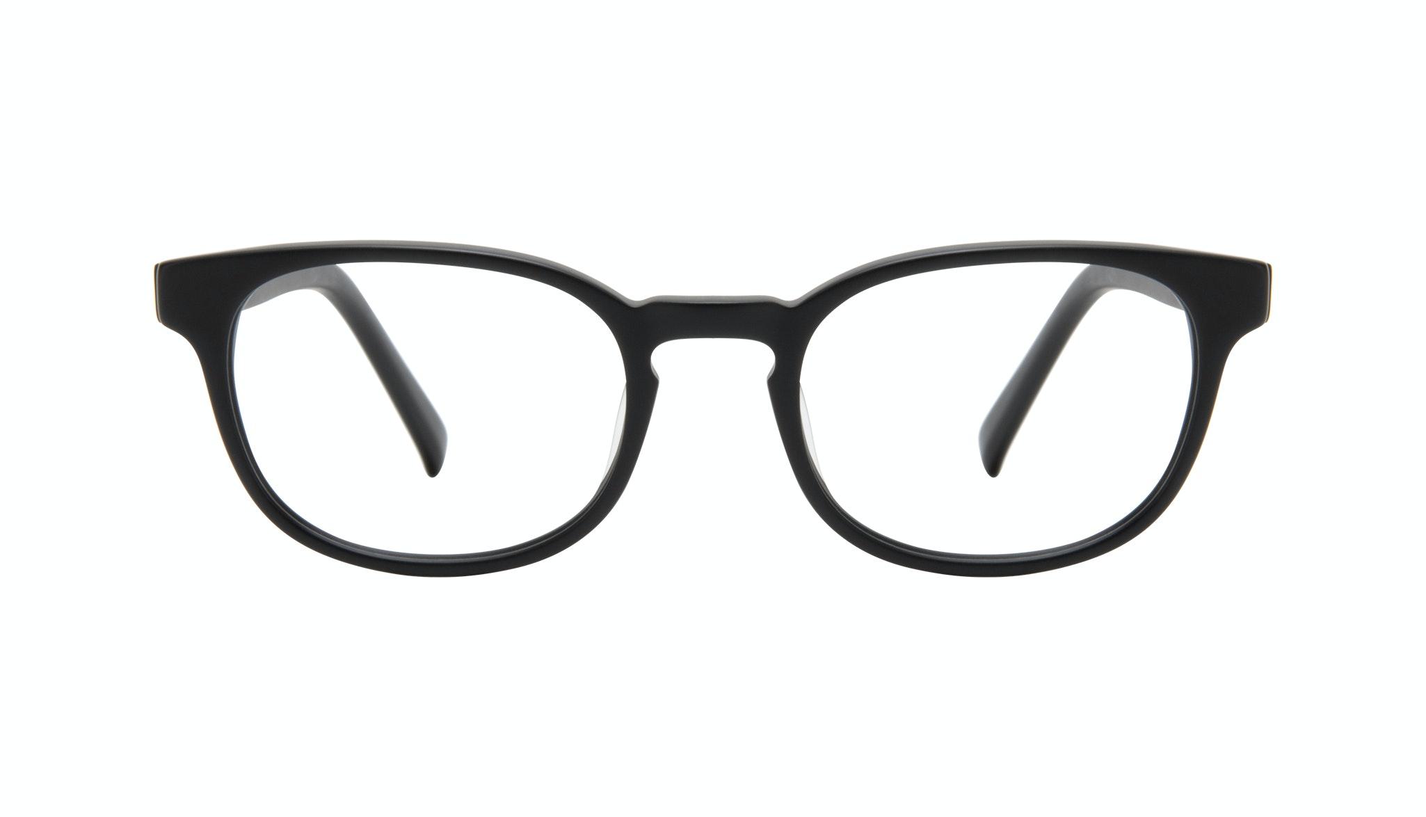 Affordable Fashion Glasses Square Eyeglasses Men Essence Black Matte Front