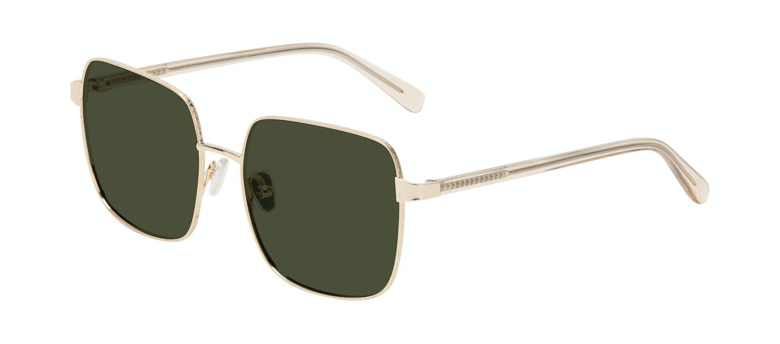 Affordable Fashion Glasses Square Sunglasses Women Fab Gold Tilt
