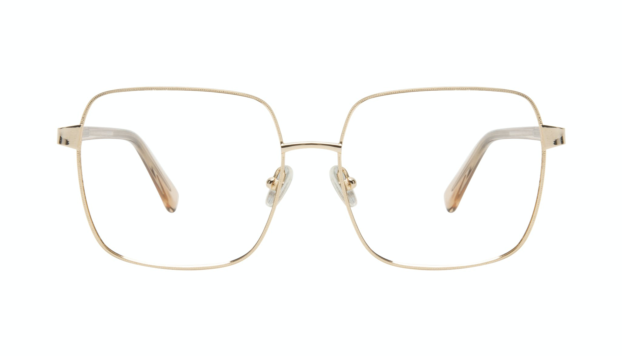 Affordable Fashion Glasses Square Eyeglasses Women Fab Gold Front