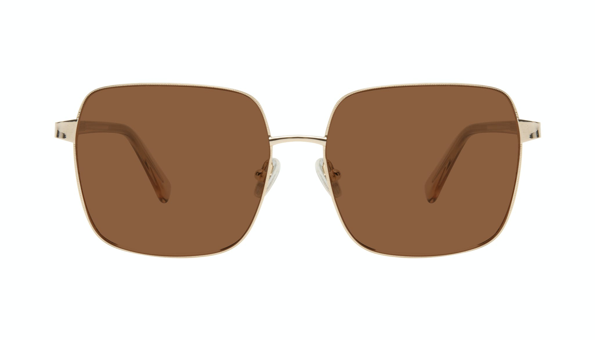 Affordable Fashion Glasses Square Sunglasses Women Fab Gold Front