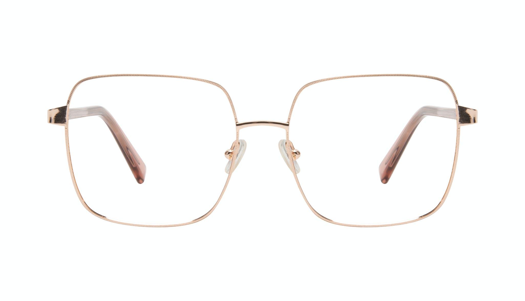 Affordable Fashion Glasses Square Eyeglasses Women Fab Rose Front