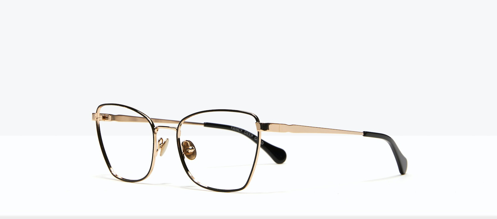 Affordable Fashion Glasses Cat Eye Eyeglasses Women Fancy Deep Gold Tilt