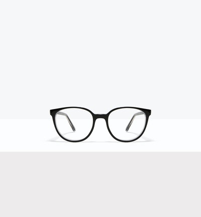 Affordable Fashion Glasses Round Eyeglasses Women Fauna Black Ice Front