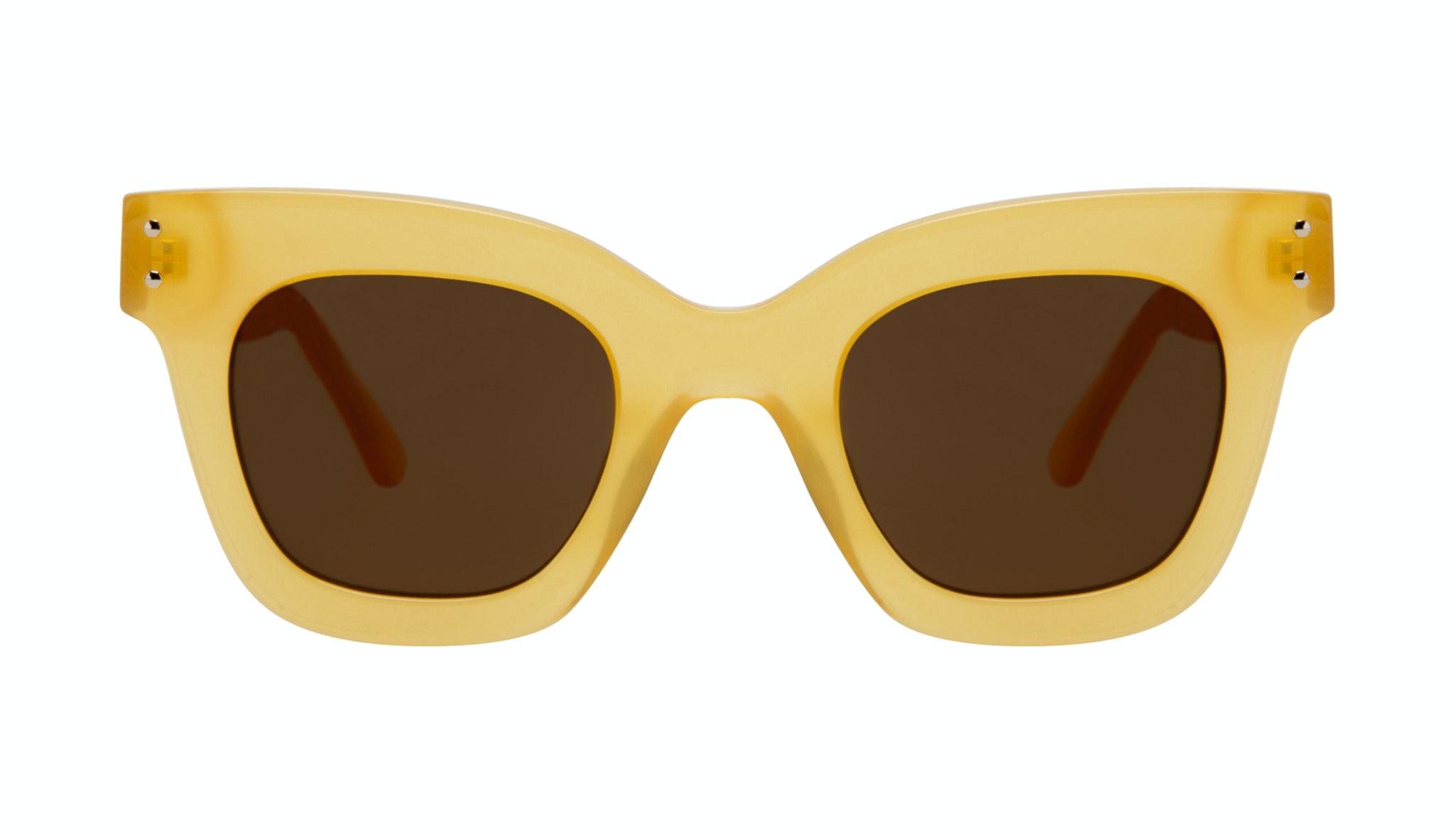 Affordable Fashion Glasses Square Sunglasses Women Fever Lemon Front