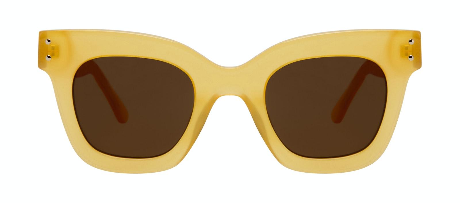 Lunettes tendance Carrée Lunettes de soleil Femmes Fever Lemon Face