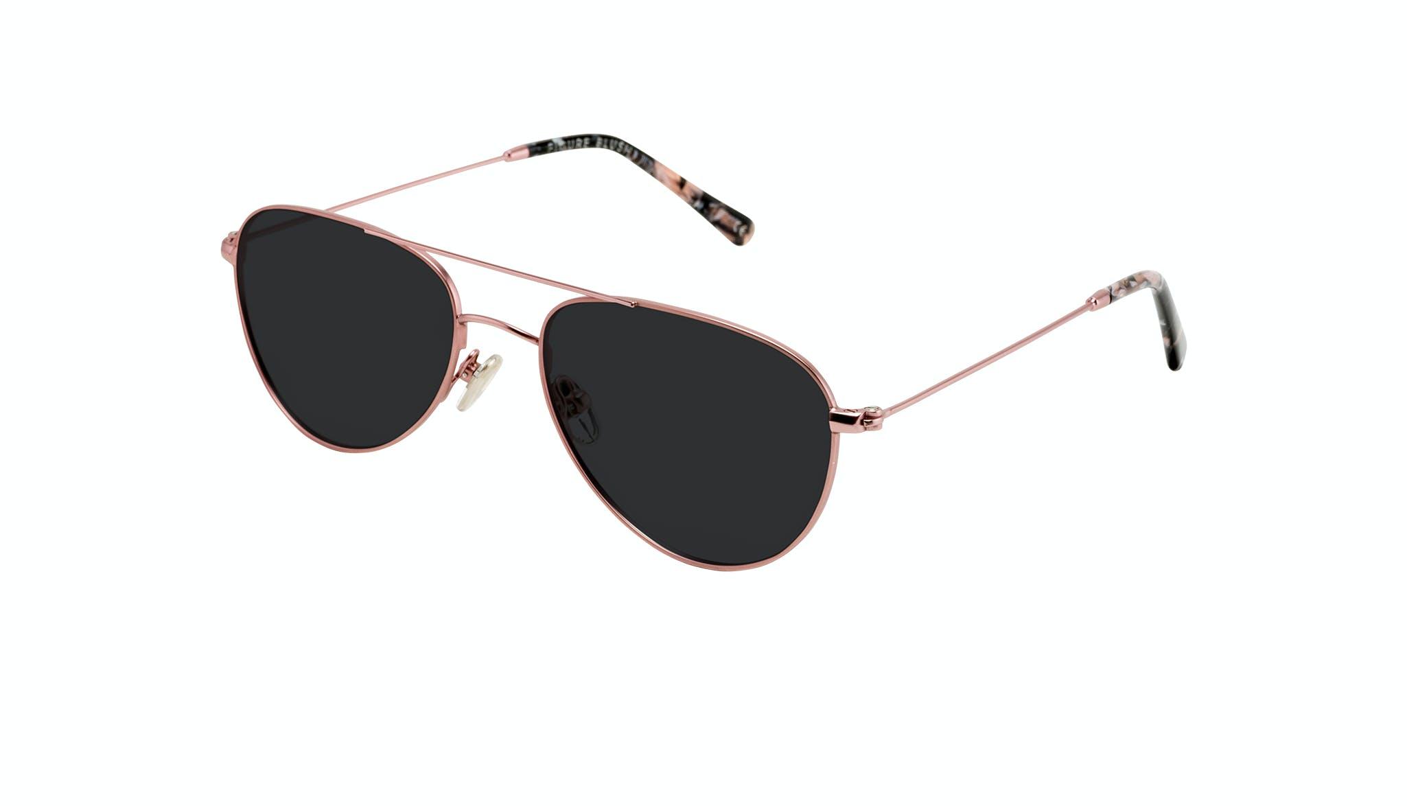Affordable Fashion Glasses Aviator Sunglasses Women Figure Blush Tilt