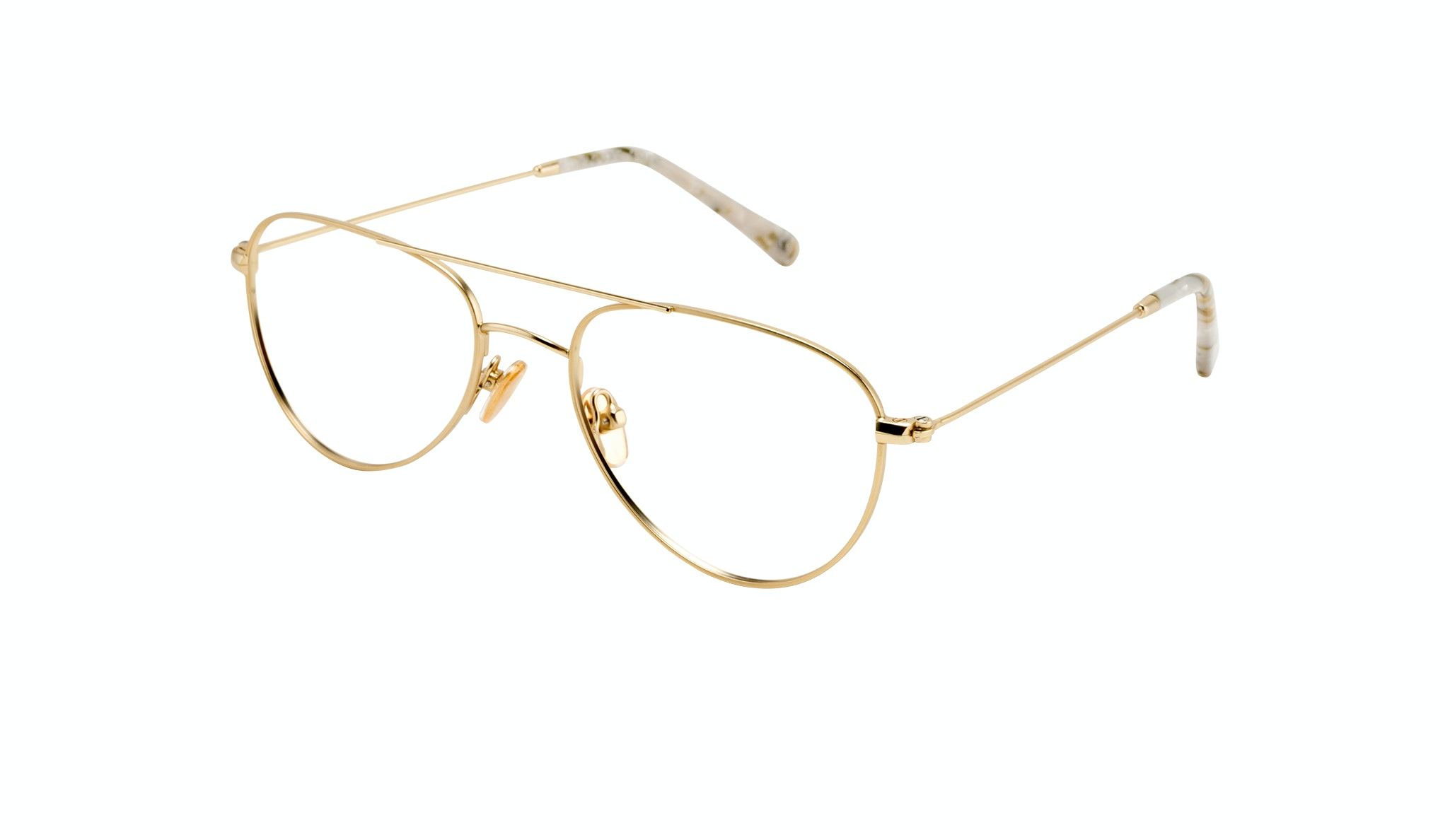 Affordable Fashion Glasses Aviator Eyeglasses Women Figure Gold Tilt