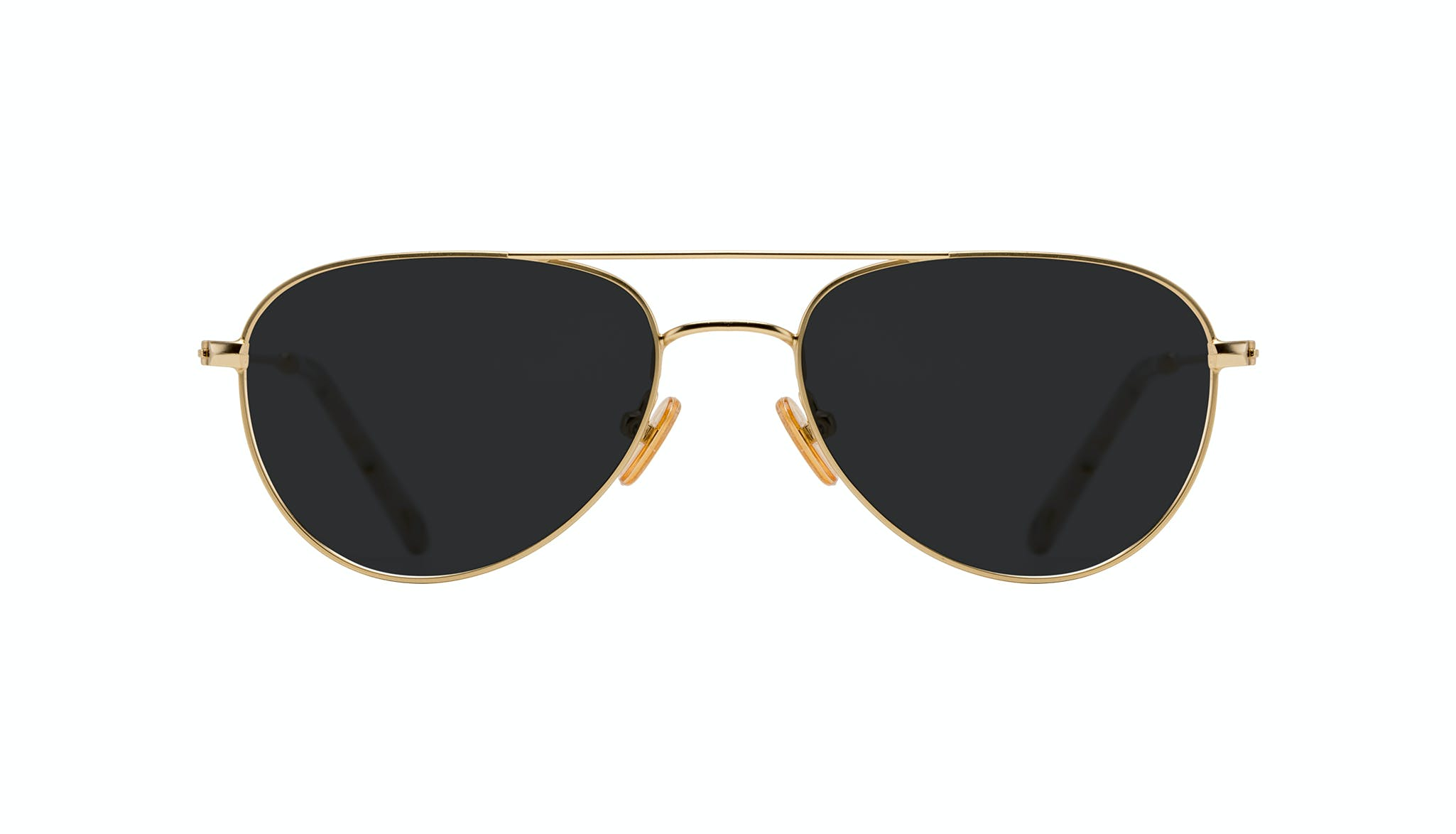 Affordable Fashion Glasses Aviator Sunglasses Women Figure Gold Front