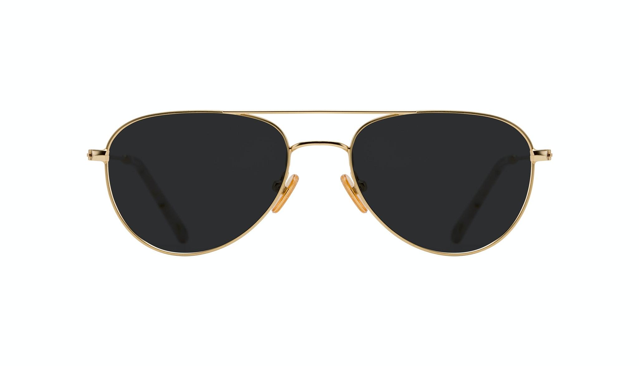 Affordable Fashion Glasses Aviator Sunglasses Women Figure Gold Front