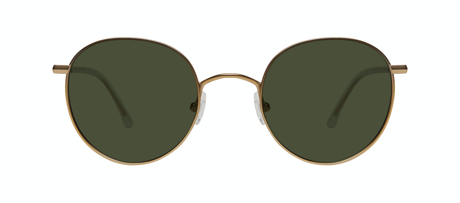 Affordable Fashion Glasses Round Sunglasses Women Finesse Matte Gold Front