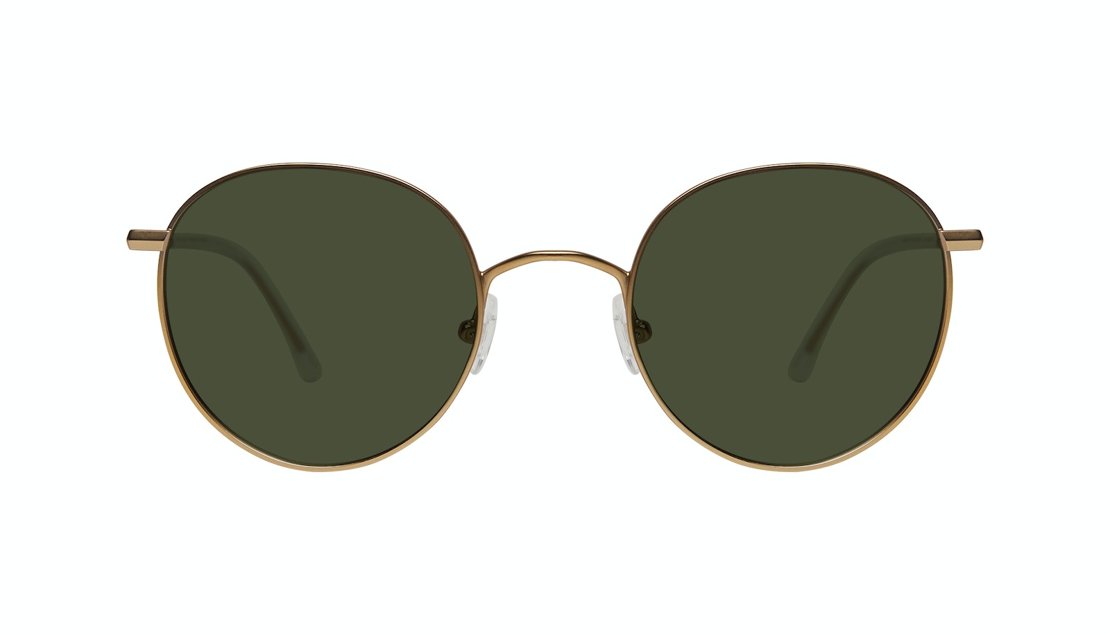 Affordable Fashion Glasses Round Sunglasses Women Finesse Matte Gold