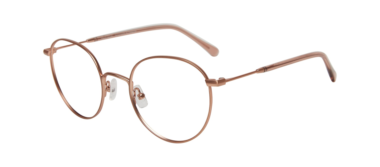 Affordable Fashion Glasses Round Eyeglasses Women Finesse Matte Pink Tilt
