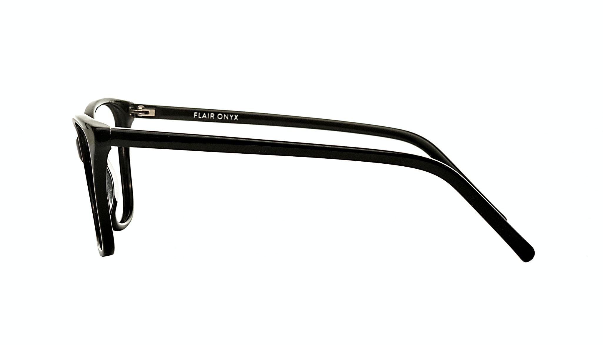 Affordable Fashion Glasses Cat Eye Rectangle Eyeglasses Women Flair Onyx Side
