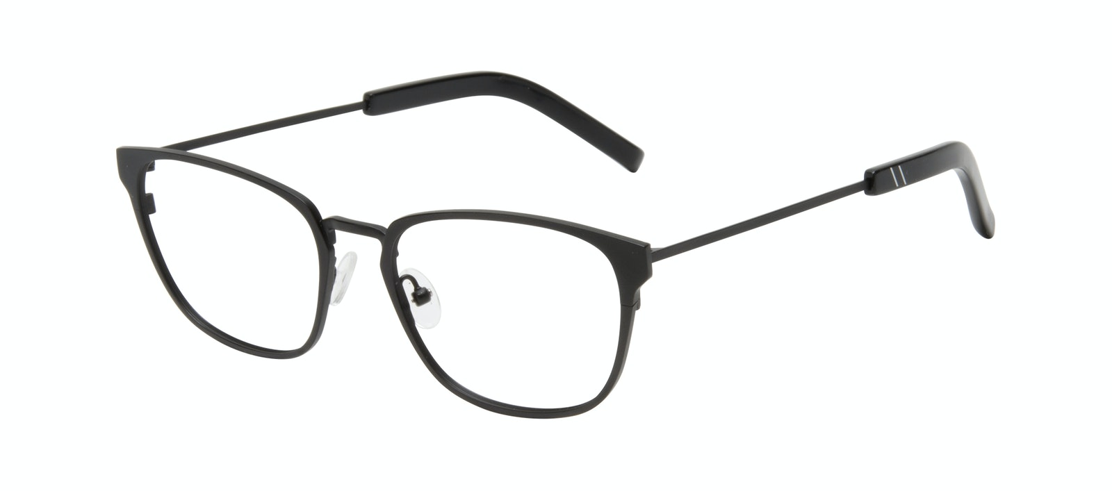 Affordable Fashion Glasses Square Eyeglasses Men Flex Onyx Matte Tilt