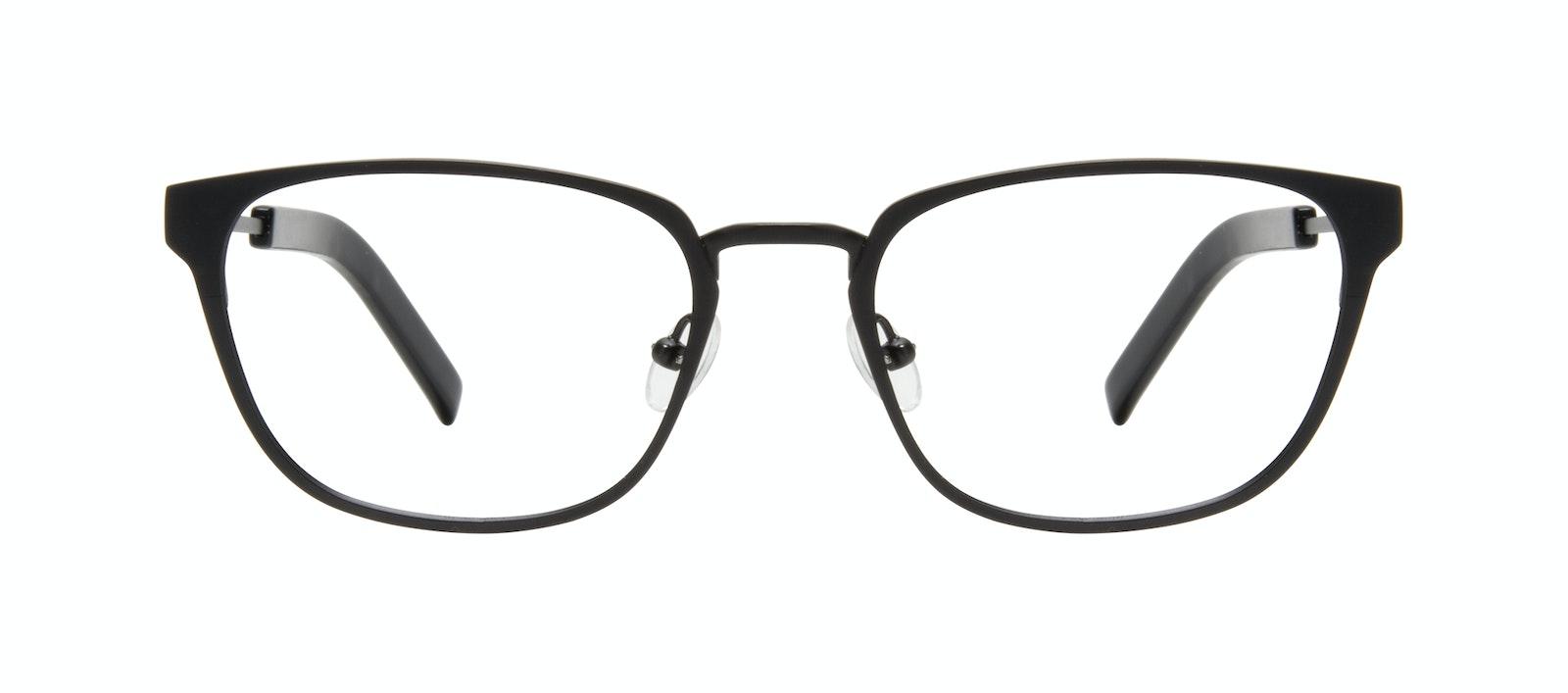 Affordable Fashion Glasses Square Eyeglasses Men Flex Onyx Matte Front