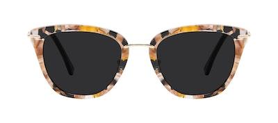 Affordable Fashion Glasses Square Sunglasses Women Flirt Black Flake Front