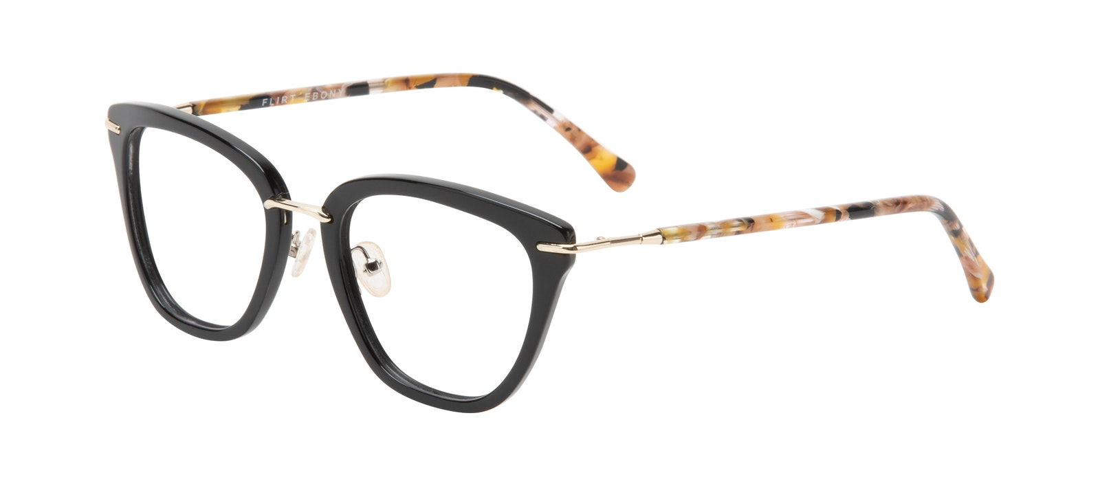 e44f394077b1 Affordable Fashion Glasses Square Eyeglasses Women Flirt Ebony Tilt