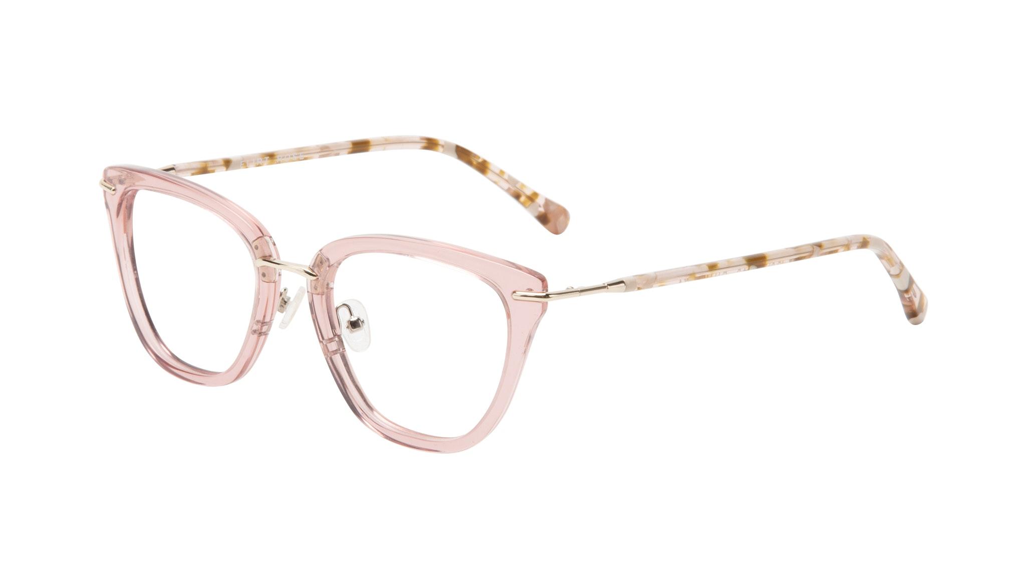 Affordable Fashion Glasses Square Eyeglasses Women Flirt Rose Tilt
