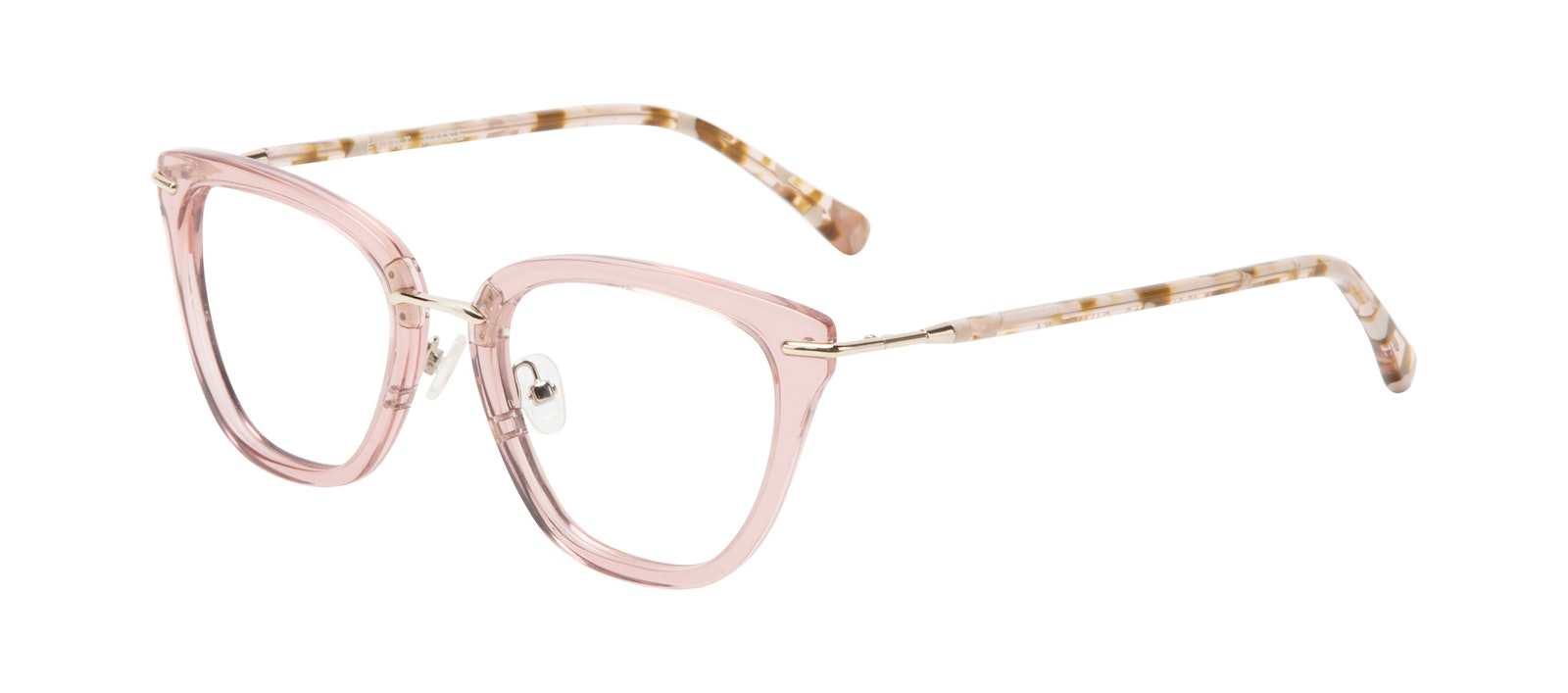 Affordable Fashion Glasses Square Eyeglasses Women Flirt Rose Tilt