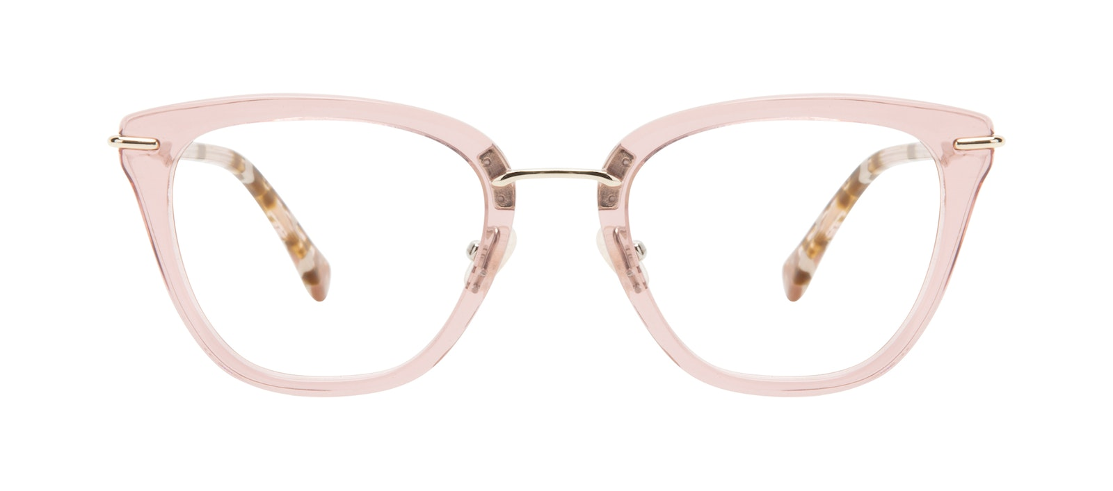Affordable Fashion Glasses Square Eyeglasses Women Flirt Rose Front