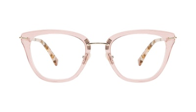 Affordable Fashion Glasses Square Eyeglasses Women Flirt Rose Front