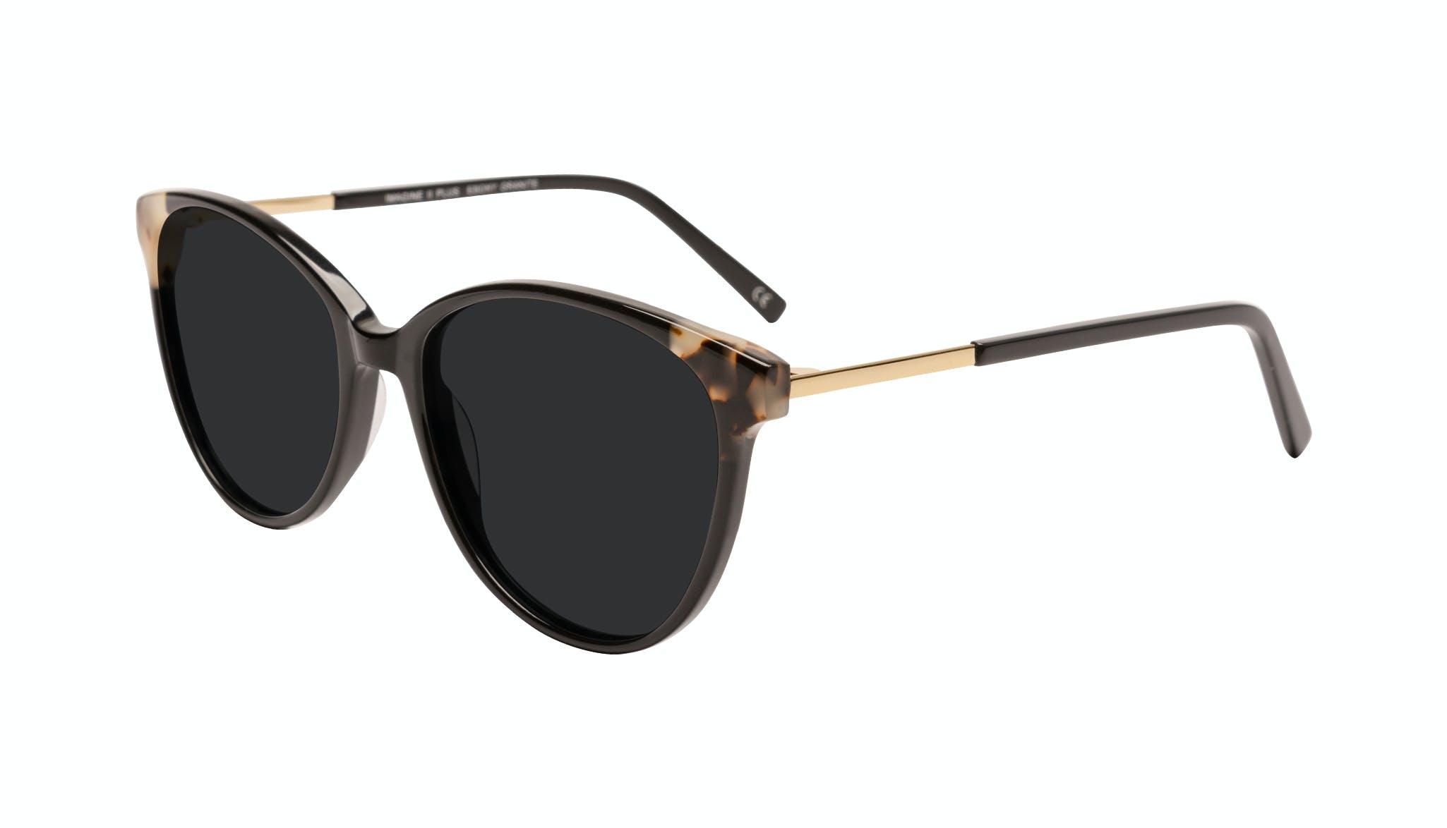 Affordable Fashion Glasses Cat Eye Sunglasses Women Folk Plus Ebony Granite Tilt