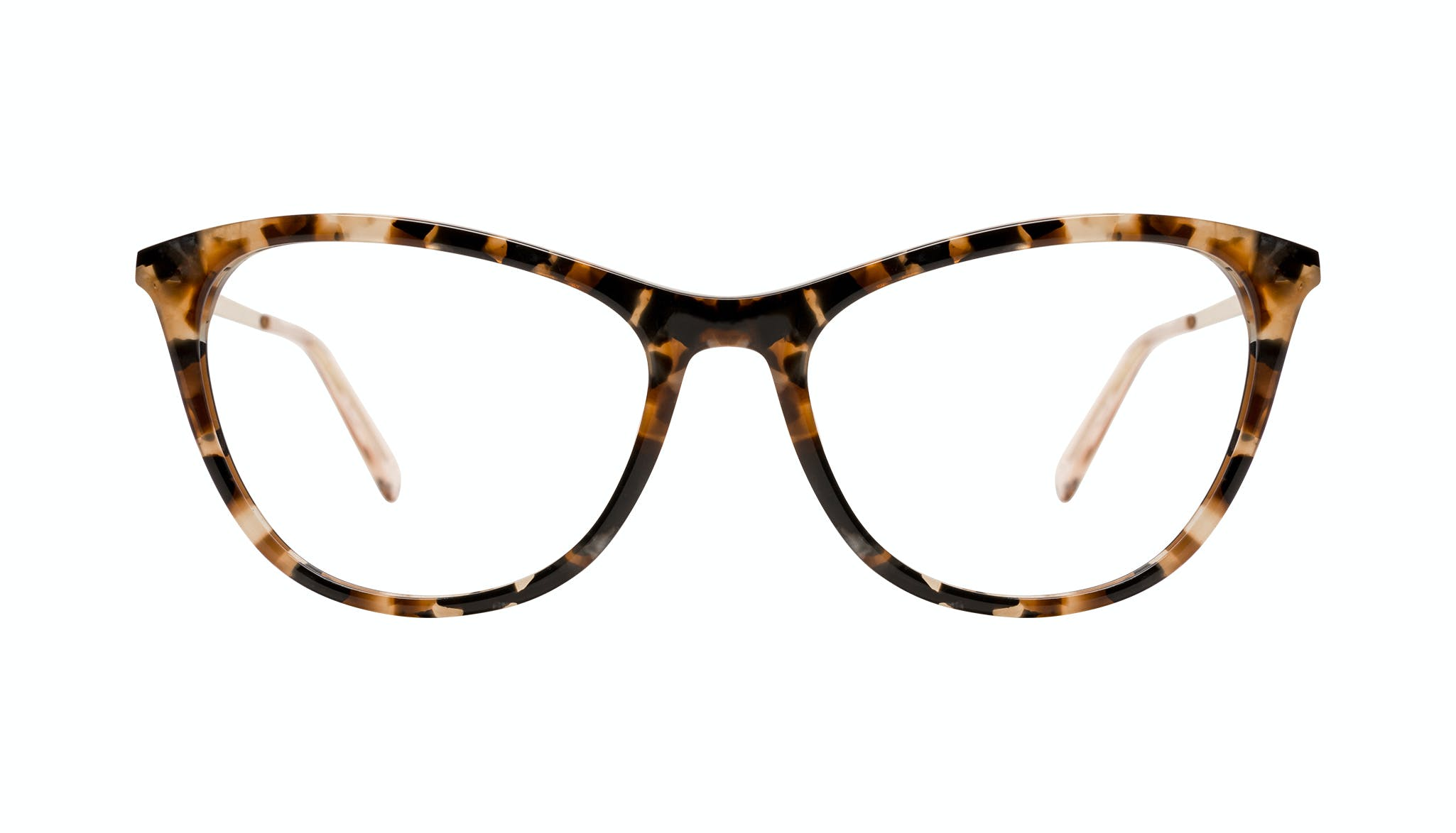 Affordable Fashion Glasses Cat Eye Eyeglasses Women Folk Plus Gold Flake Front