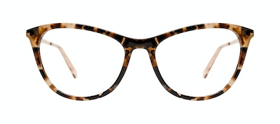 Affordable Fashion Glasses Rectangle Eyeglasses Women Folk Plus Gold Flake Front