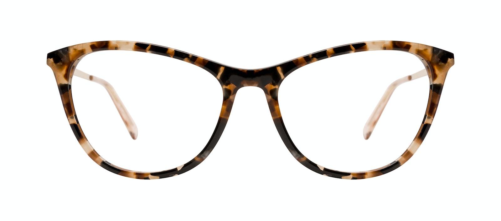 Affordable Fashion Glasses Rectangle Eyeglasses Women Folk Plus Gold Flake Front