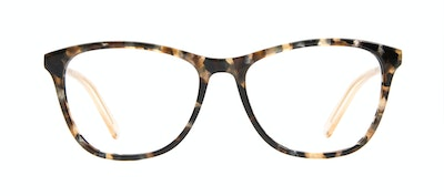 Affordable Fashion Glasses Rectangle Eyeglasses Women Folk Gold Flake Front
