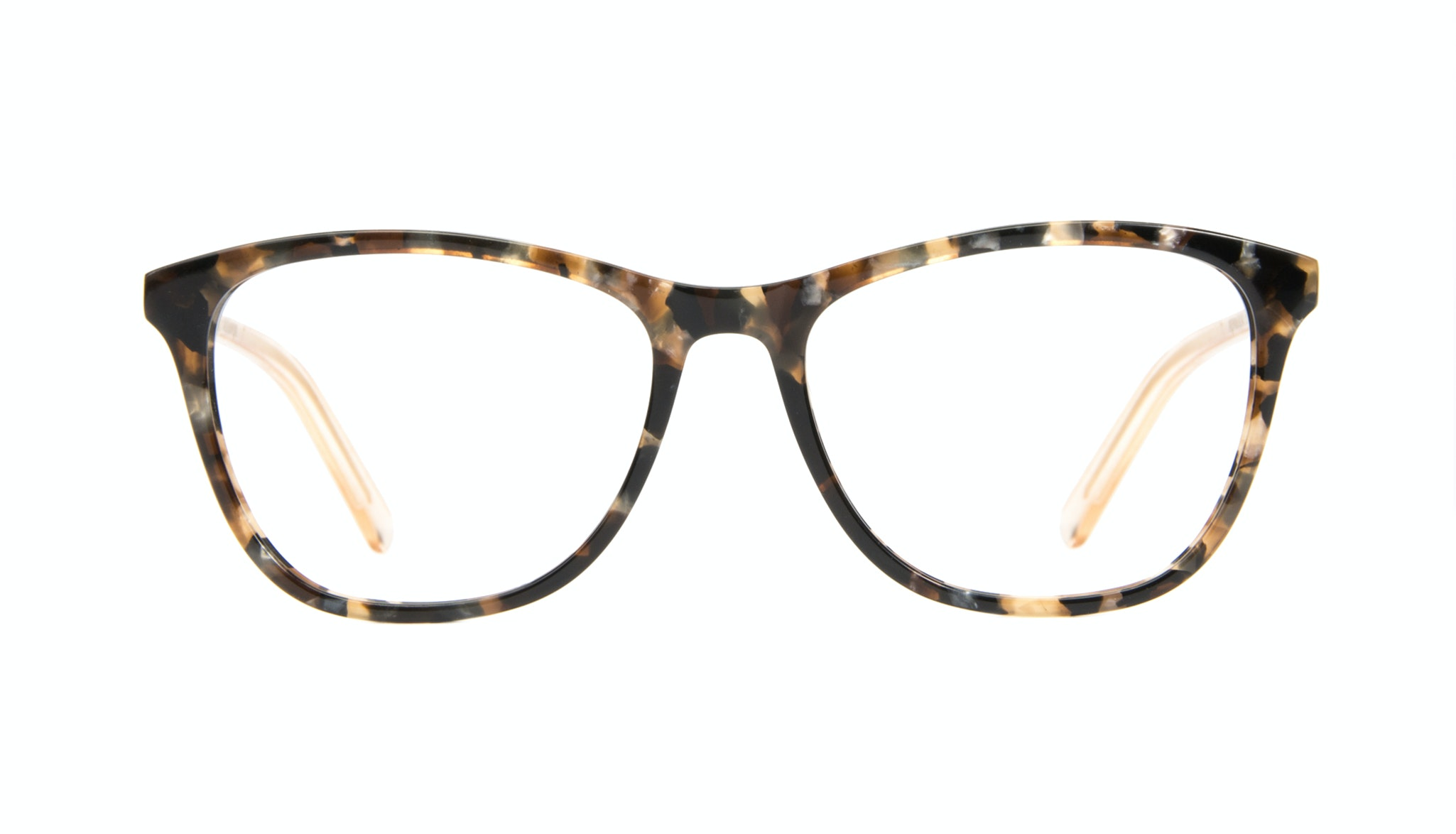 Affordable Fashion Glasses Cat Eye Rectangle Eyeglasses Women Folk Gold Flake Front