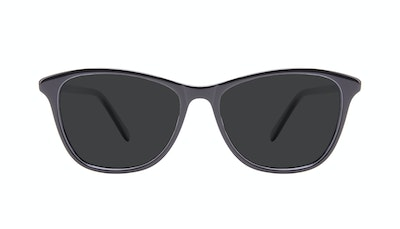 Affordable Fashion Glasses Rectangle Sunglasses Women Folk Onyx Front