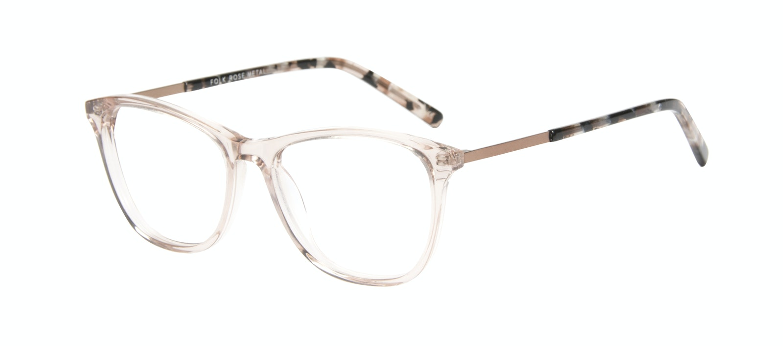 Affordable Fashion Glasses Rectangle Eyeglasses Women Folk Rose Metal Tilt