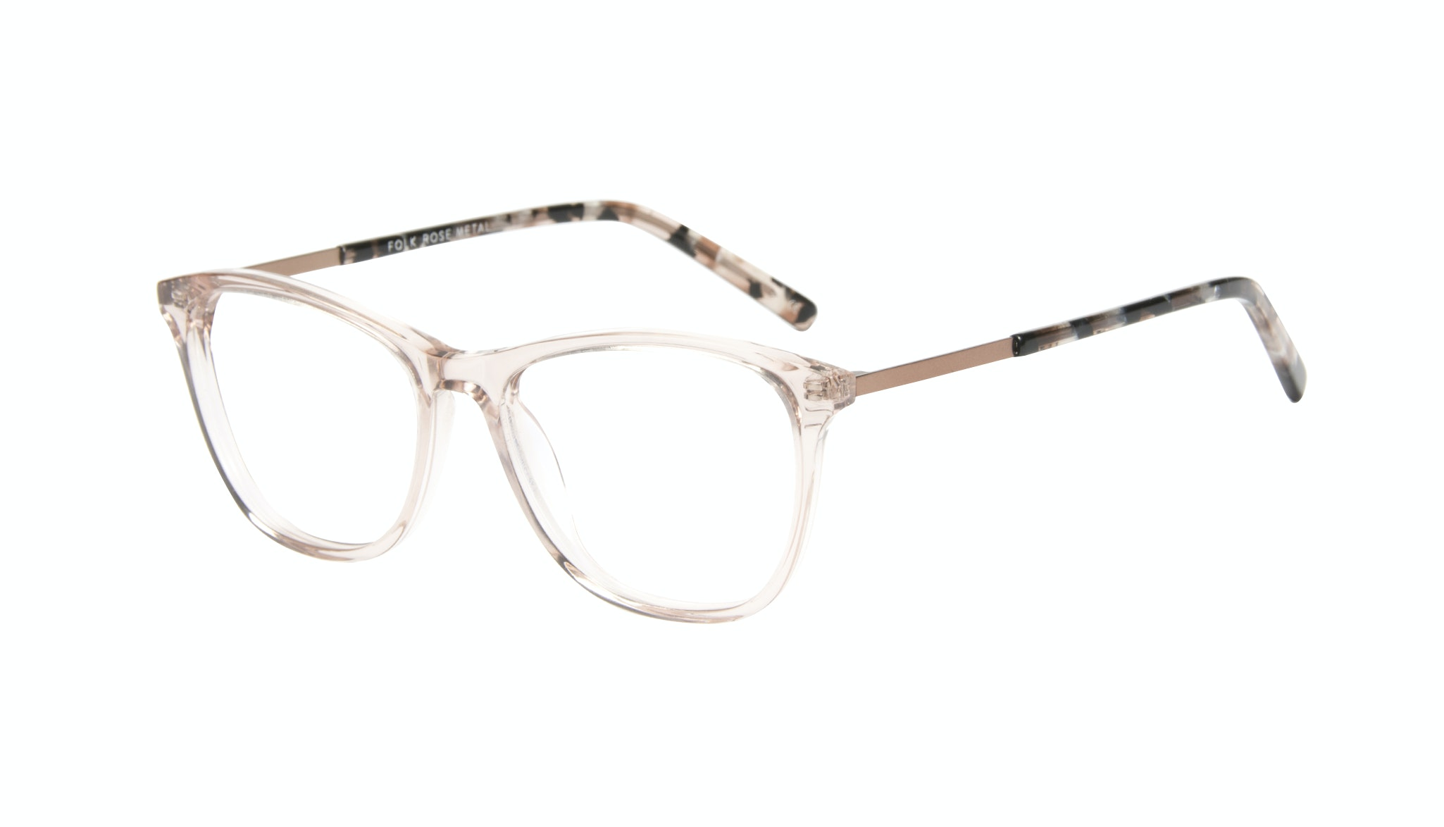 Affordable Fashion Glasses Cat Eye Rectangle Eyeglasses Women Folk Rose Metal Tilt