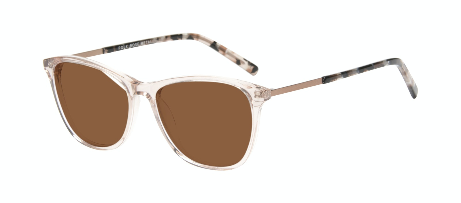Affordable Fashion Glasses Rectangle Sunglasses Women Folk Rose Metal Tilt