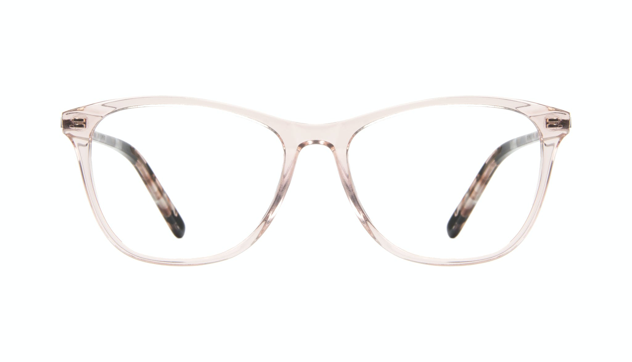 Affordable Fashion Glasses Rectangle Eyeglasses Women Folk Rose Metal Front