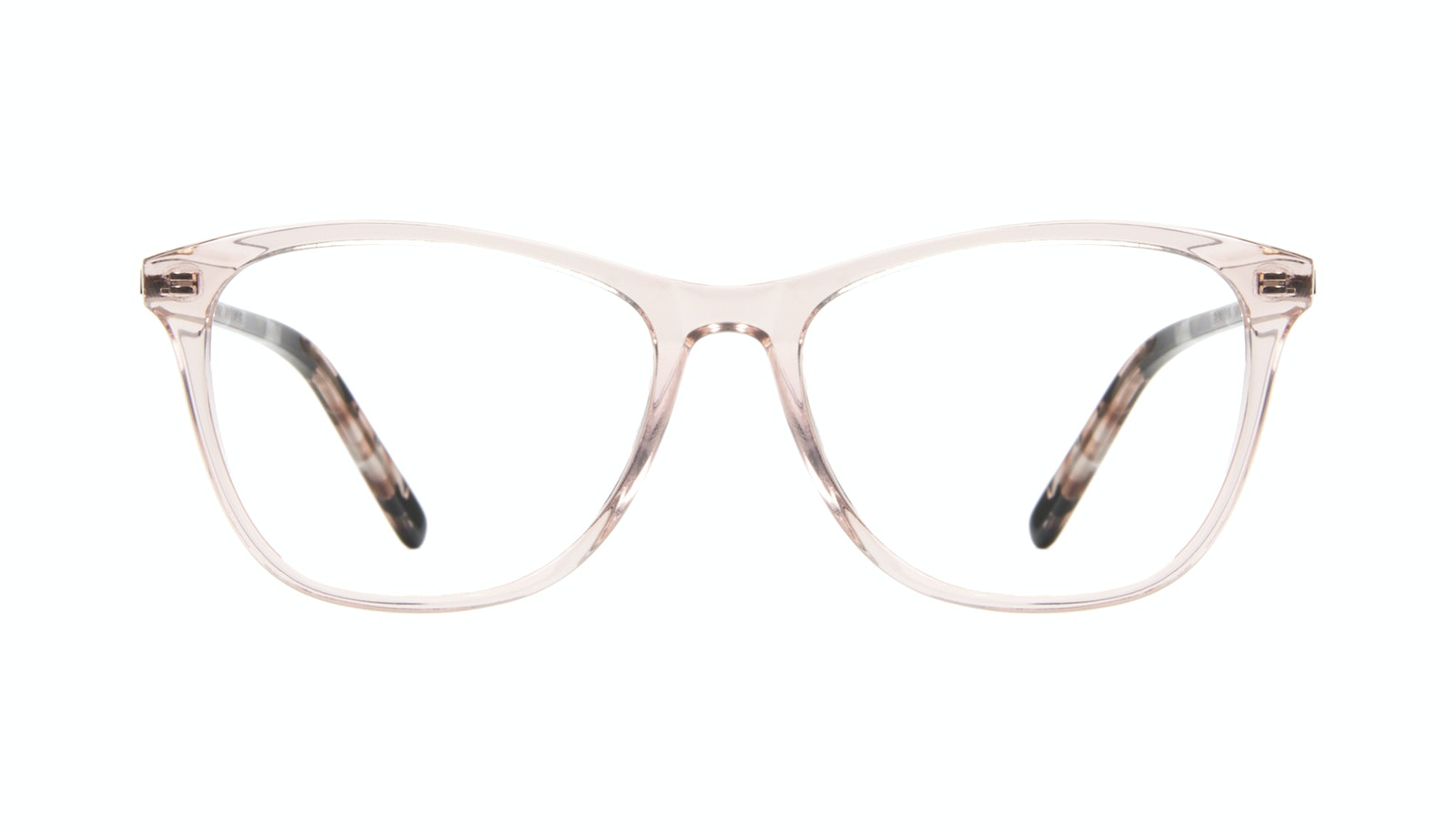 Affordable Fashion Glasses Rectangle Eyeglasses Women Folk Rose Metal