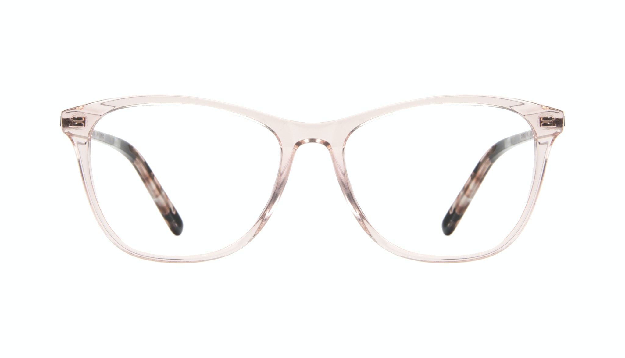 Affordable Fashion Glasses Cat Eye Rectangle Eyeglasses Women Folk Rose Metal Front