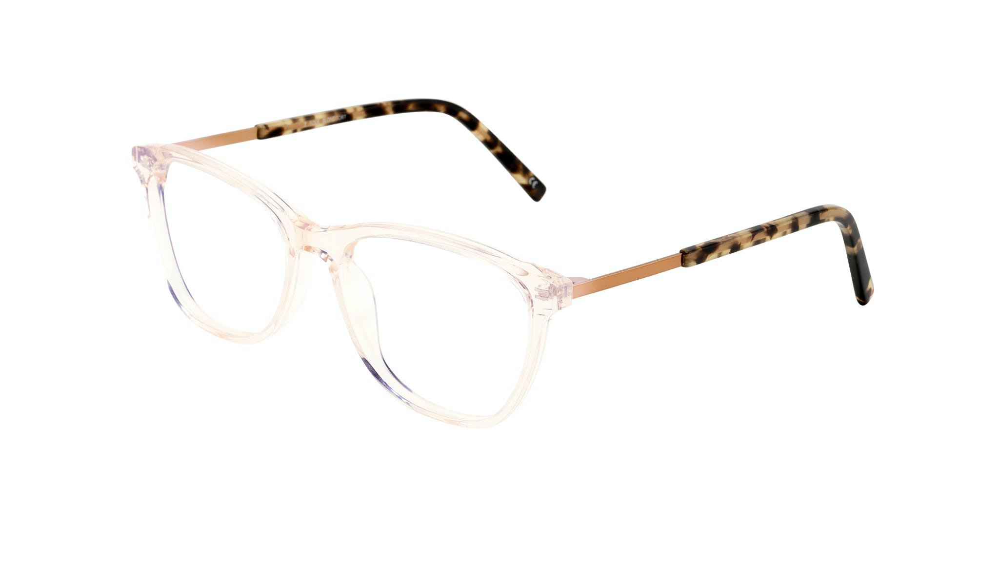 Affordable Fashion Glasses Rectangle Eyeglasses Women Folk Blond Tortoise Tilt