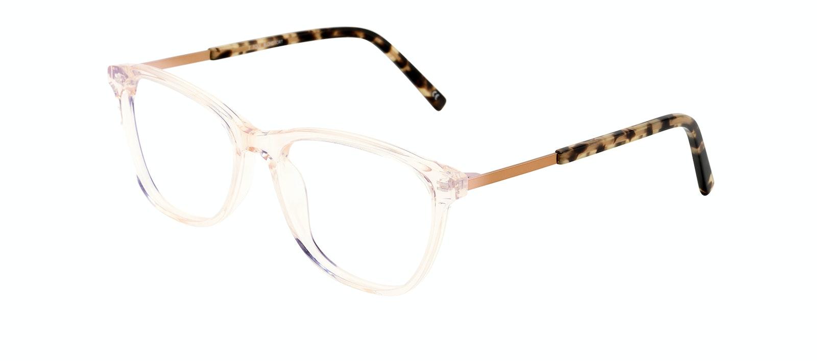 Affordable Fashion Glasses Rectangle Eyeglasses Women Folk Blond Tortoise Tilt