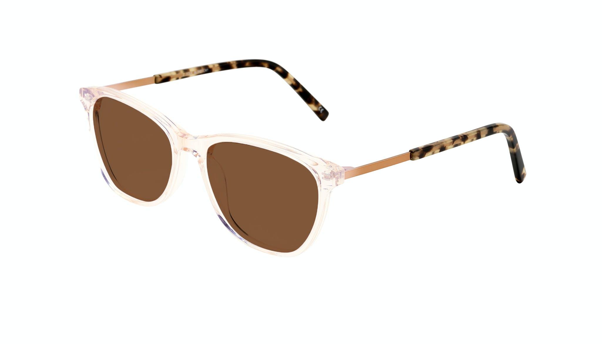 Affordable Fashion Glasses Cat Eye Rectangle Sunglasses Women Folk Blond Tortoise Tilt