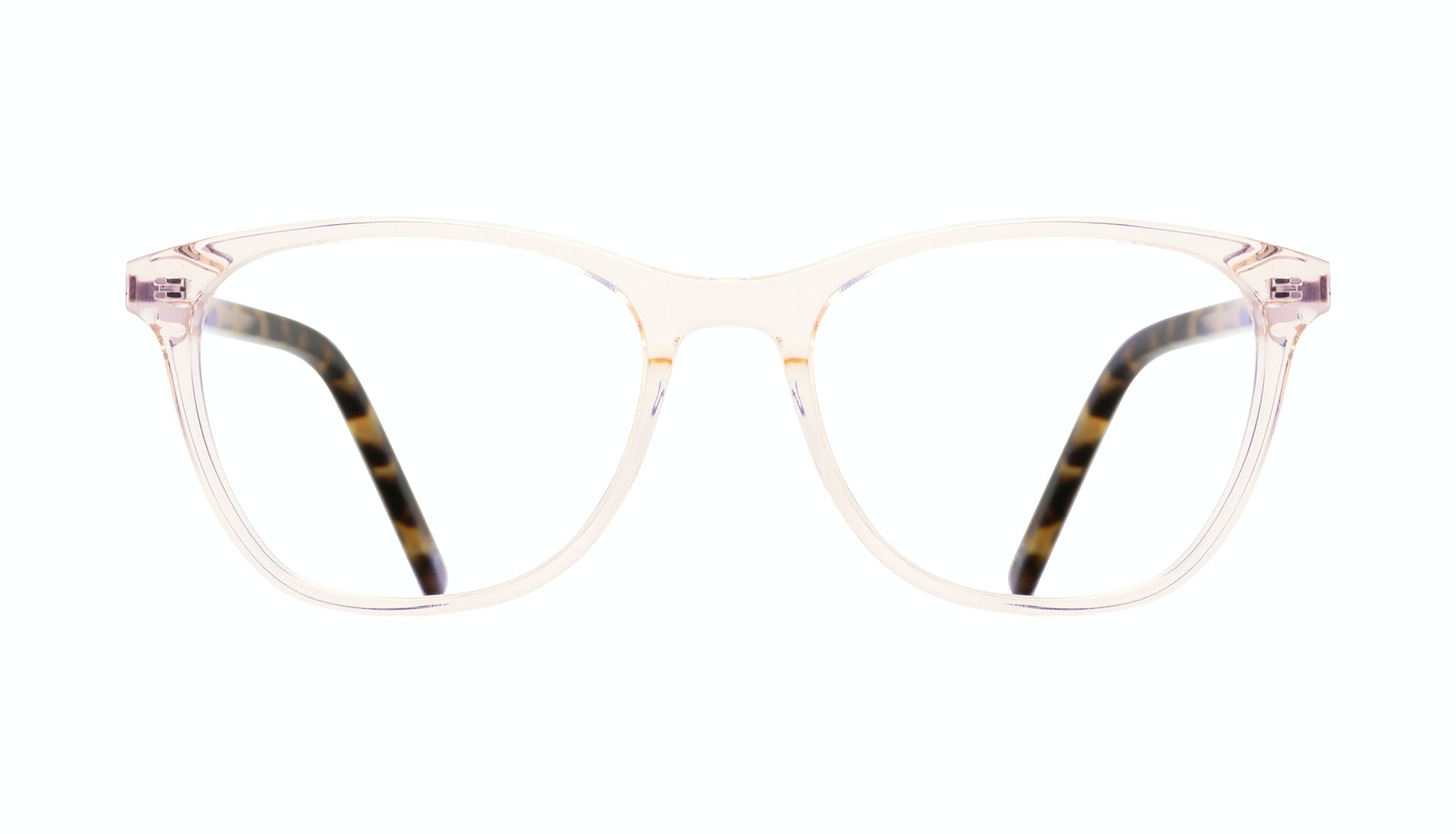 Affordable Fashion Glasses Rectangle Eyeglasses Women Folk Blond Tortoise Front