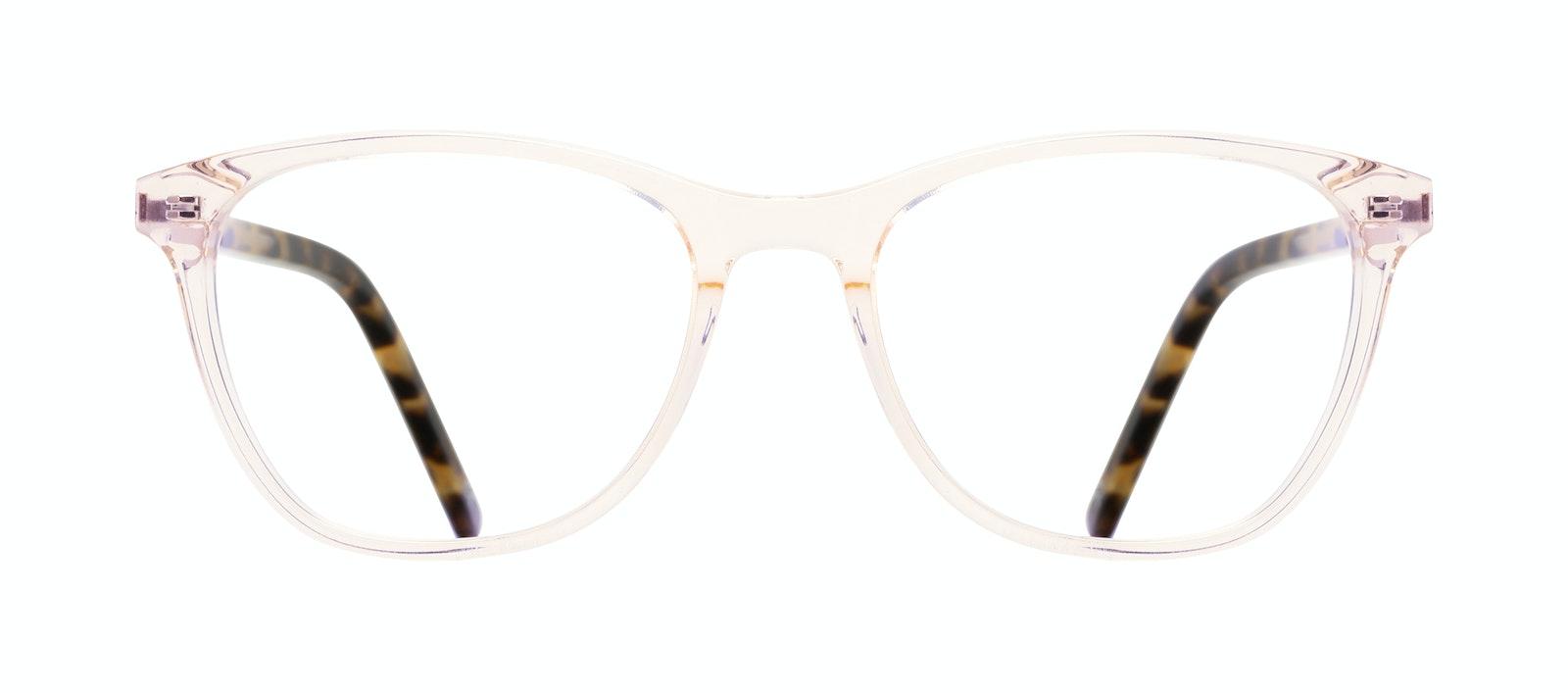 Affordable Fashion Glasses Rectangle Eyeglasses Women Folk Blond Tortoise Front