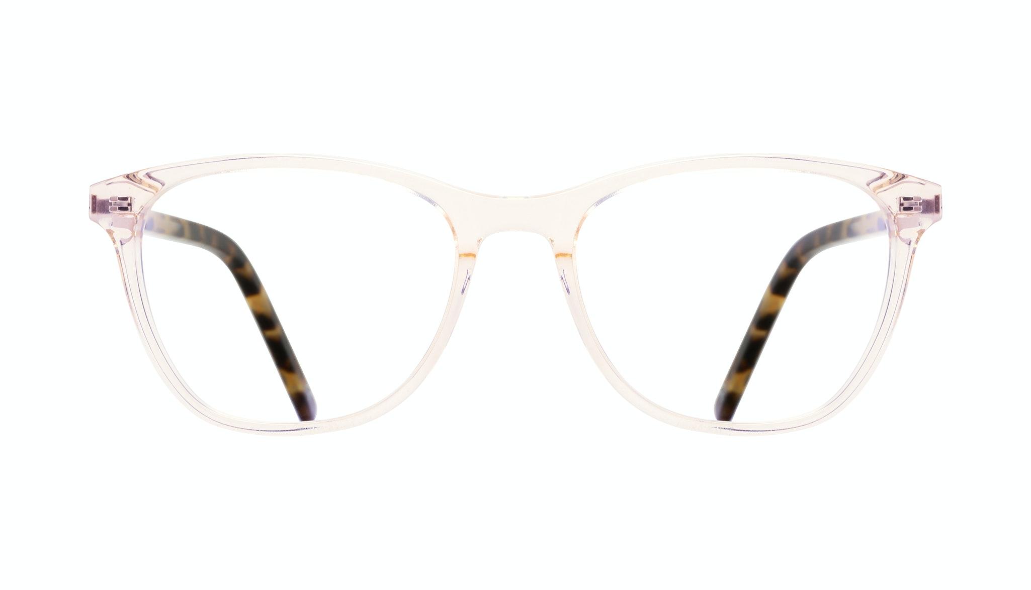 Affordable Fashion Glasses Cat Eye Rectangle Eyeglasses Women Folk Blond Tortoise Front