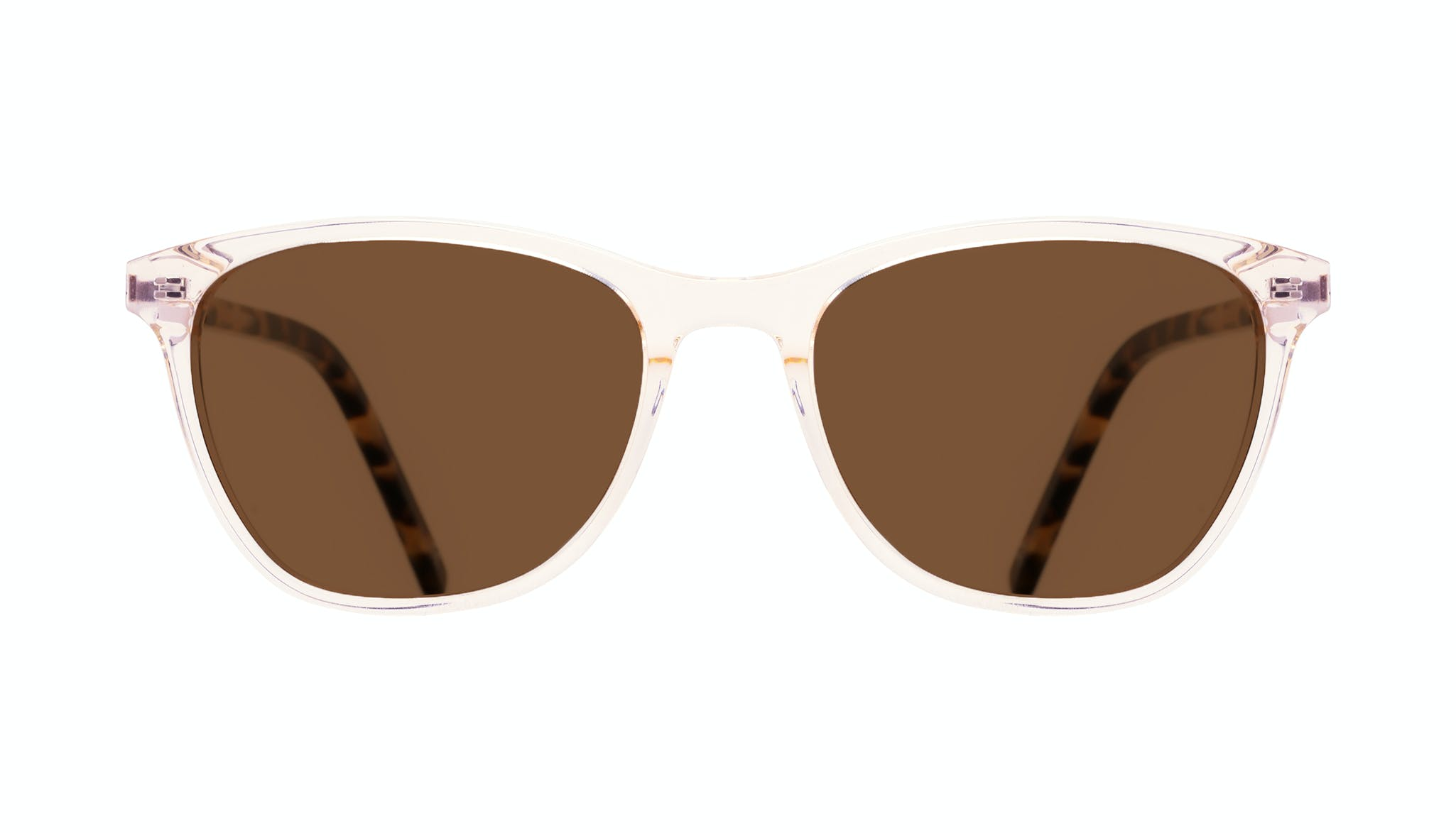 Affordable Fashion Glasses Cat Eye Rectangle Sunglasses Women Folk Blond Tortoise Front