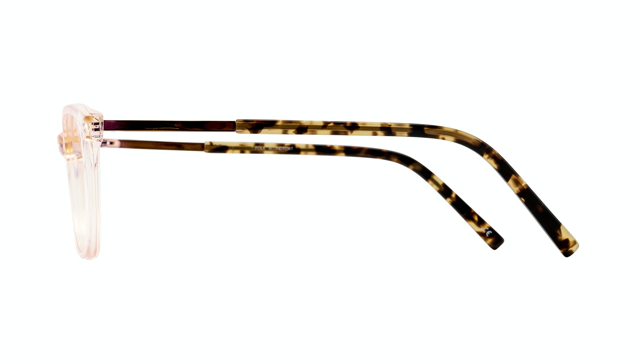 Affordable Fashion Glasses Rectangle Eyeglasses Women Folk Blond Tortoise Side