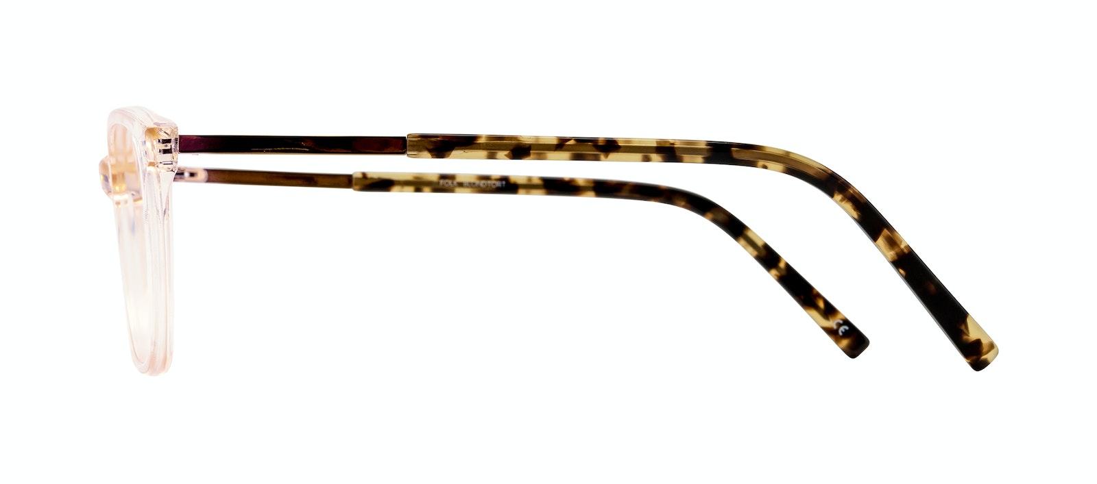Affordable Fashion Glasses Rectangle Eyeglasses Women Folk Blond Tortoise Side