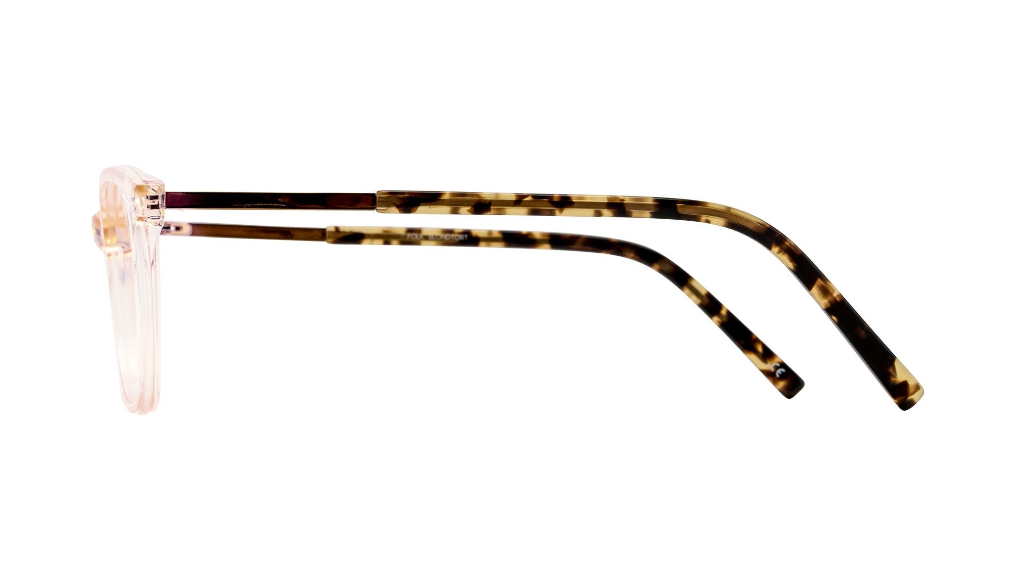 Affordable Fashion Glasses Cat Eye Rectangle Eyeglasses Women Folk Blond Tortoise Side